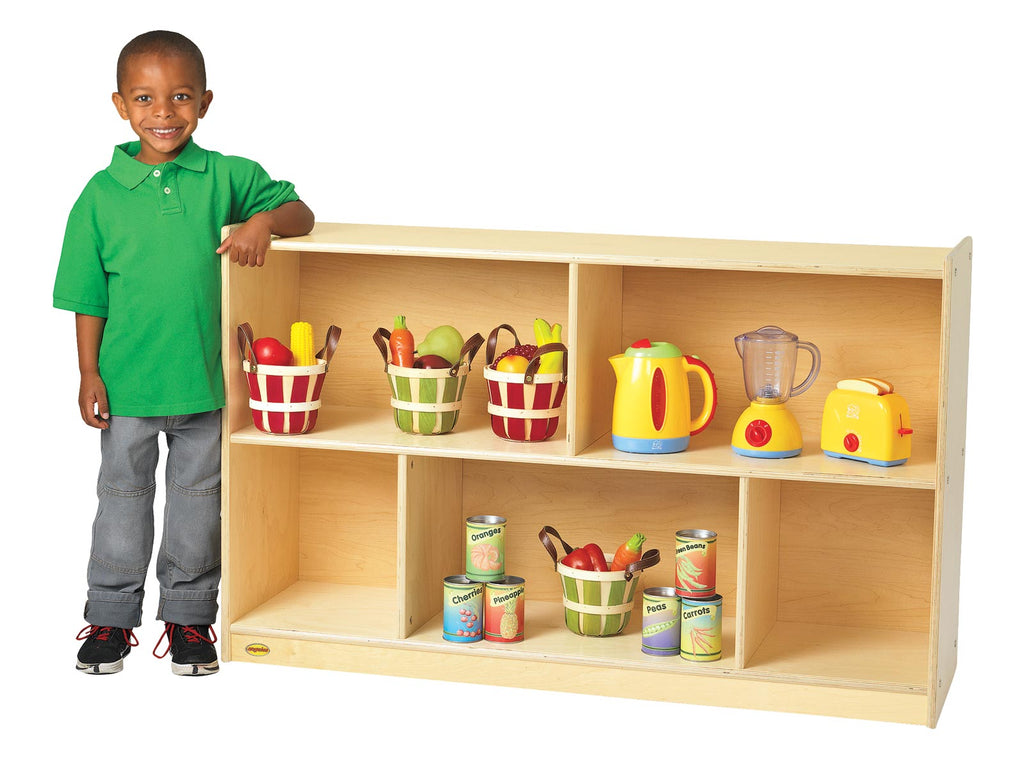 "Angeles ANG9149 Value Line Birch 30"" Mobile Divided 2-Shelf Storage"