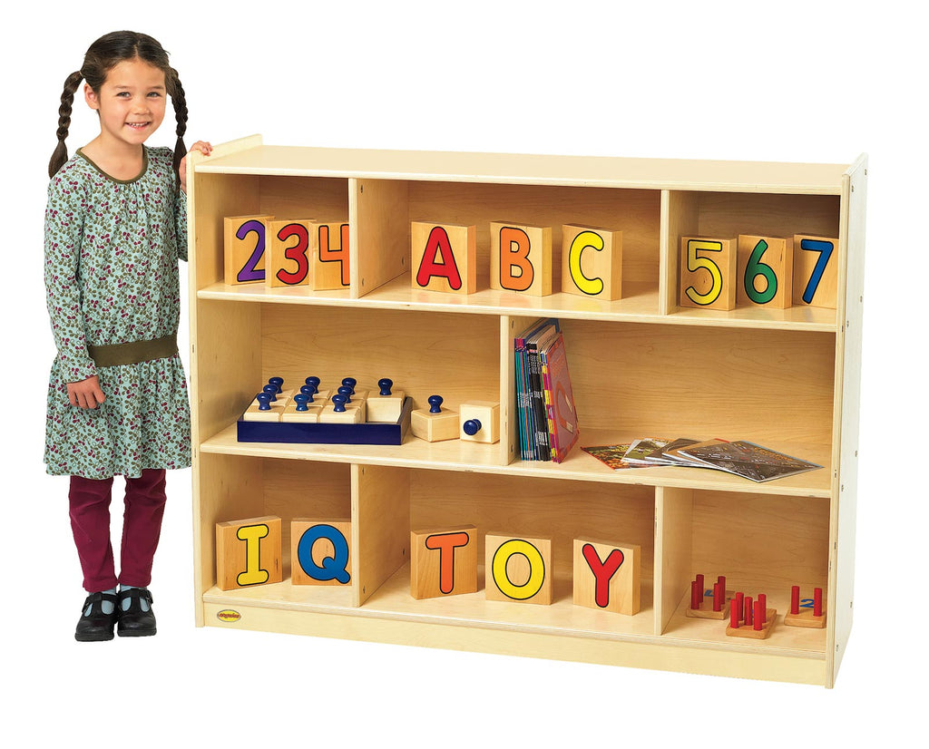 "Angeles ANG9150 Value Line Birch 36"" Mobile Divided 3-Shelf Storage"