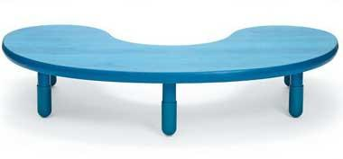 "Angeles BaseLine Kidney Table 12"" Legs - Ocean Blue"
