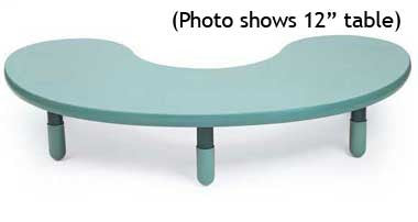 "Angeles BaseLine Kidney Table 22"" Legs - Teal"