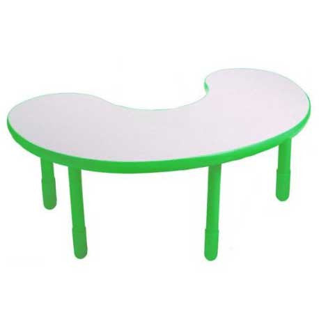 "Angeles BaseLine Kidney Table 20"" Legs - Shamrock Green"