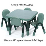 "Angeles 30"" Square BaseLine Table 18"" Legs - Teal"