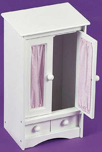 Badger Basket Doll Armoire with Three Hangers