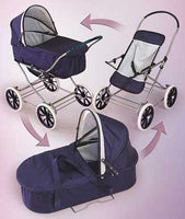 Badger Basket English Style 3-in-1 Doll Pram, Carrier and Stroller