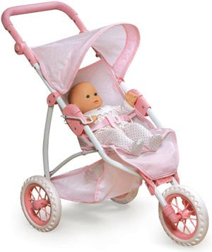 Badger Basket Three Wheel Doll Jogging Stroller