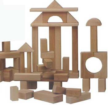 Beka 06036 Wooden Unit Blocks Standard Set - 36 Pieces - The Creativity Institute
