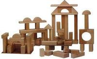 Beka 06068 Wooden Unit Blocks Deluxe Set - 68 Pieces