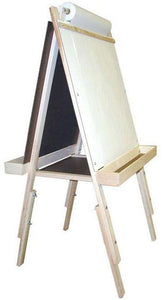 Beka 01022 Ultimate Child's Easel, Adjustable, Magnetic and Chalk Panels, Wood Trays