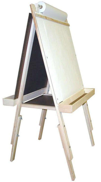 Beka 01018 Ultimate Child's Easel, Adjustable, Chalk and Marker Boards, Wood Trays