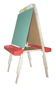 Beka 01017 Ultimate Child's Easel, Adjustable, Chalk and Marker Boards, Red Trays