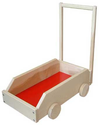Beka 06154 Bus Walker Wooden Toddler Walker