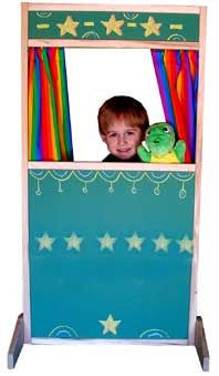 Beka 05001 Storefront Theater Puppet Stage - Chalkboard Panel