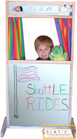 Beka Storefront Theater Puppet Stage - Marker Board Panels - and Two Free Puppet Show Scripts
