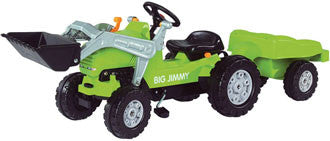 Big Jimmy Loader Pedal Tractor Ride-On Plus Trailer