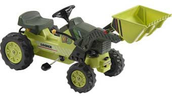 Kalee KL-50001B Pedal Tractor with Loader - Green