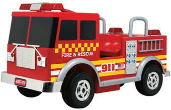 Kalee KL-40027 Fire Truck 12 Volt Battery-Powered Ride-On