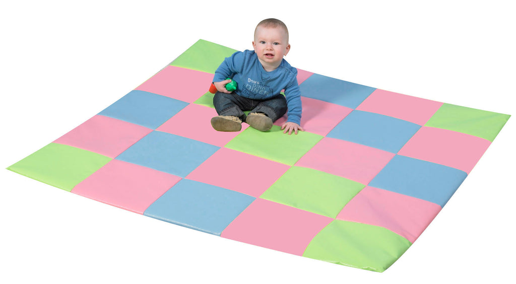 Children's Factory CF321-132P Patchwork Crawly Mat - Pastel