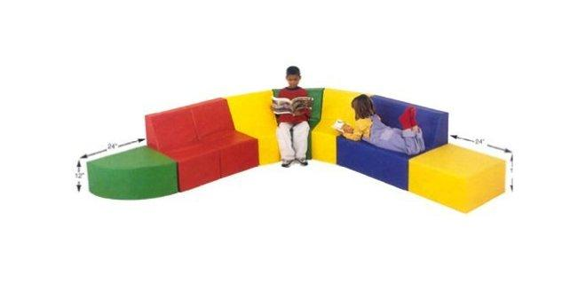 Children's Factory CF321-503 School Age Corner Seating - The Creativity Institute
