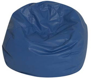 "Children's Factory CF610-082 35"" Dia. Deep Water Blue Bean Bag Chair - The Creativity Institute"