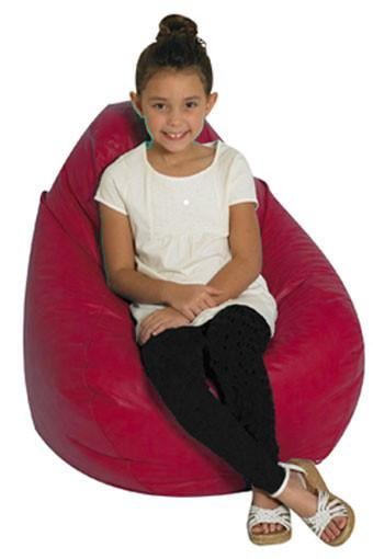 Children's Factory CF610-032 Tear Drop Bean Bag - Red