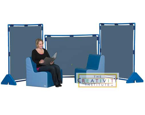 Children's Factory Set of 3 Deep Water Blue Big Screen PlayPanels (Play Panels)