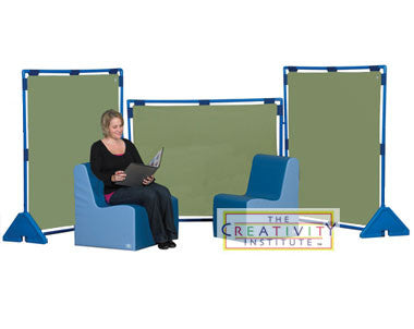 Children's Factory Set of 3 Sage Big Screen Play Panels (PlayPanels)
