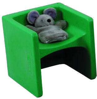 Children's Factory CF910-011 Chair Cubed - Green Cube Chair