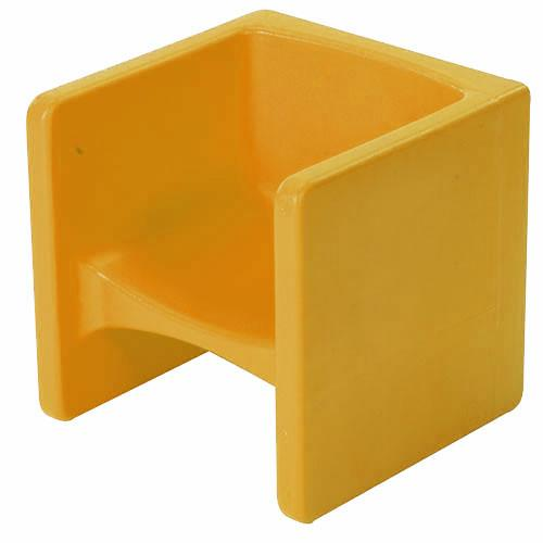 Children's Factory CF910-010 Chair Cubed - Yellow Cube Chair