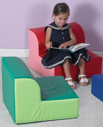 Children's Factory CF322-387 Library Trio Green Chair - The Creativity Institute