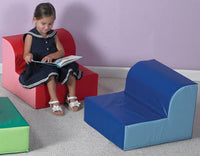 Children's Factory CF322-386 Library Trio Blue Chair