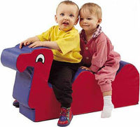 Children's Factory CF331-013 Nessie Red/Blue Two-seat Ride-On