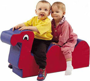 Children's Factory Nessie Red/Blue Two-seat Ride-On Cushion - The Creativity Institute