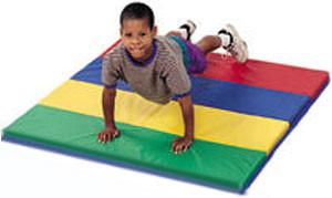 Children's Factory CF321-144 Feather-lite Rainbow Folding Mat 4' x 4'