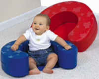 Children's Factory CF705-298PT Blue Star Rounded Sit Me Up
