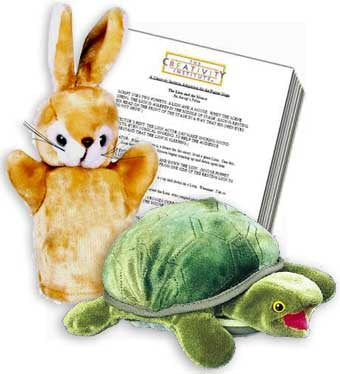 Aesop's Fables Hare and the Tortoise Puppets with Puppet Show Script