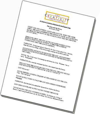 "Gwynn's Fable ""Ice Cream Day"" Puppet Show Script (Be Flexible) PDF DOWNLOAD"