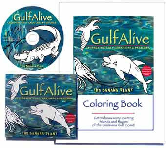 "The Banana Plant ""GulfAlive"" Kid's Music CD and Coloring Book Set"