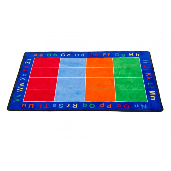 "Learning Carpets 8'5"" x 11'9"" ABC Squares Rug - CPR456 - The Creativity Institute"