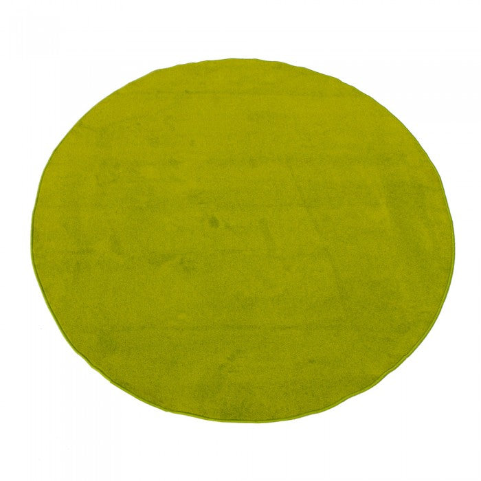 "Learning Carpets 6' 6"" Round Solid Light Green Rug - CPR465R"