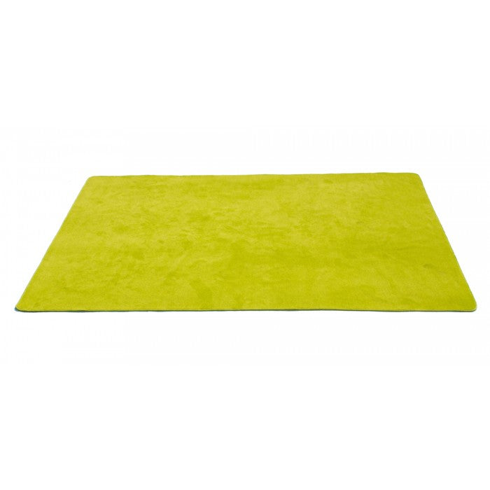 "Learning Carpets 8'5"" x 11'9"" Solid Light Green Rug - CPR468R"