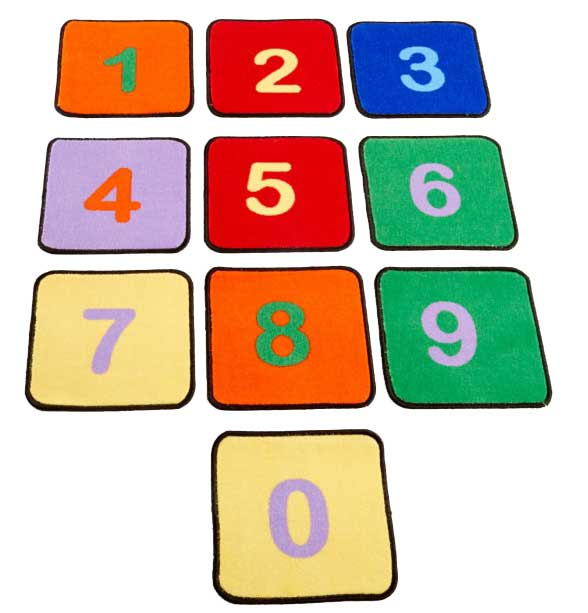 Learning Carpets Numbers - Set of 10 Rug Squares - CPR527