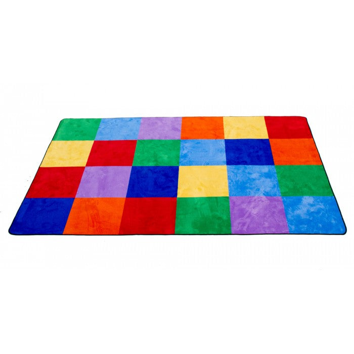 "Learning Carpets 5'10"" x 8'5"" Colorful Grid Rug - CPR550"