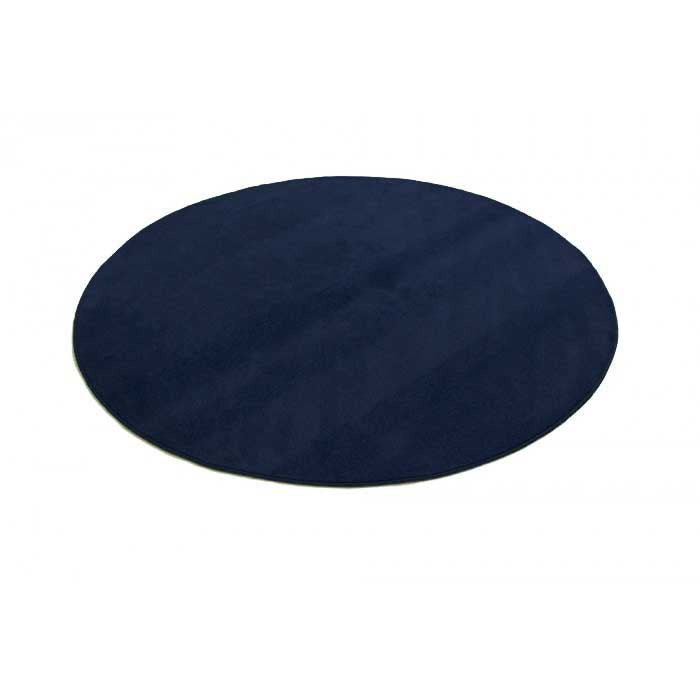 "Learning Carpets 6'6"" Round Solid Lake Blue Rug - CPR551R"