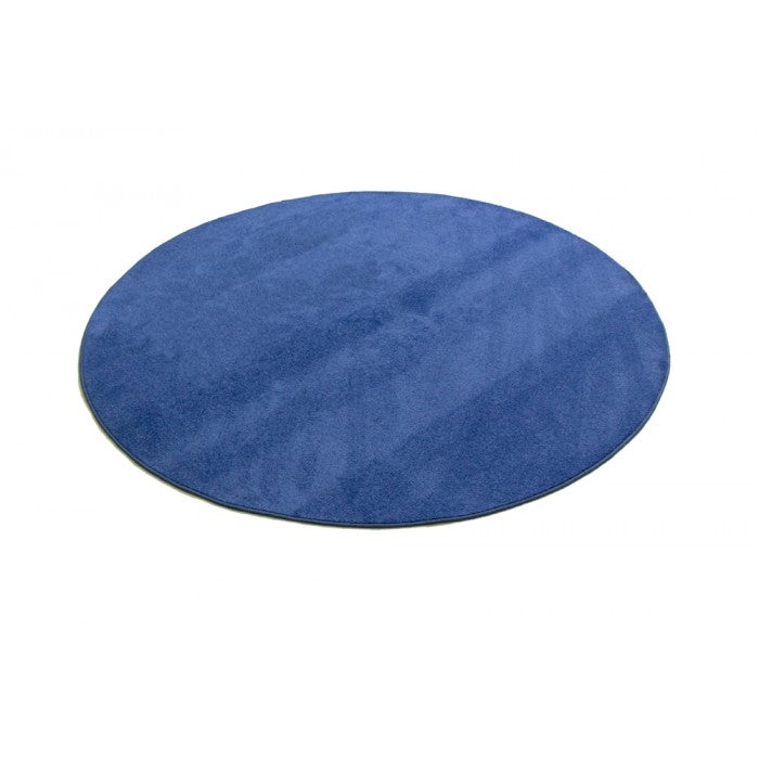 "Learning Carpets 6' 6"" Round Solid Blue Rug - CPR471R"