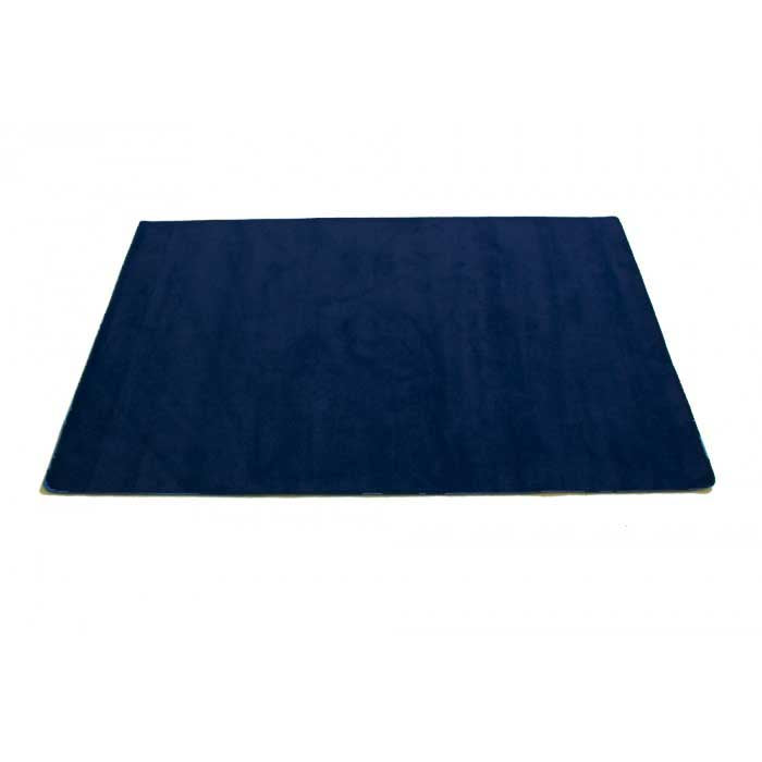 "Learning Carpets 8'5"" x 11'9"" Solid Dark Blue Rug - CPR554R"