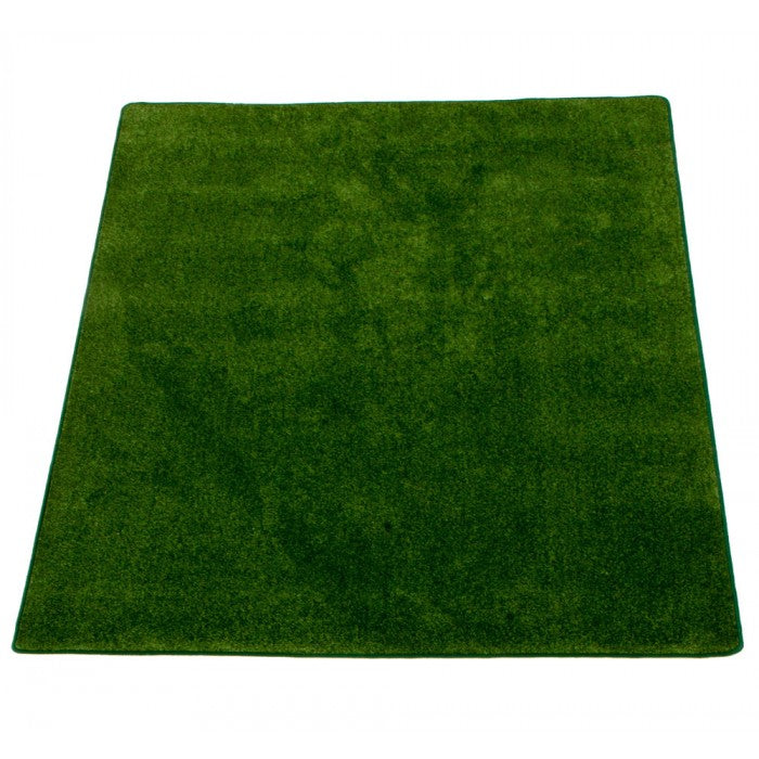 "Learning Carpets 8'5"" x 11'9"" Solid Dark Green Rug - CPR560R"