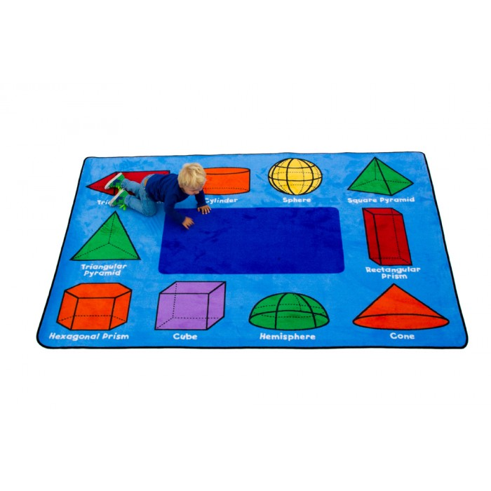 "Learning Carpets 3D Geometric Shapes 5'10"" x 8'5"" Rug - CPR940"