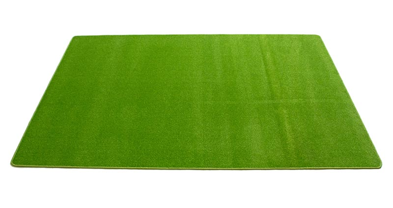 "Learning Carpets 5'10"" x 8'5"" Solid Light Green Rug - CPR467R"