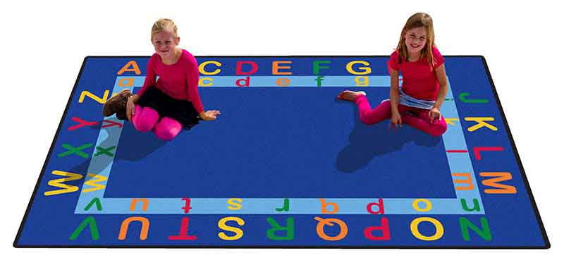 "Learning Carpets 5'10"" x 8'5"" Let's Learn the Alphabet Rug- CPR544"