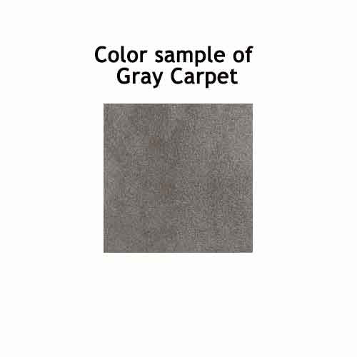 "Learning Carpets 8'5"" x 11'9"" Rectangular Solid Gray Rug - CPR705R"